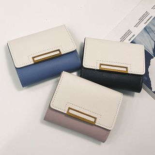 Image of Color Block Trifold Wallet