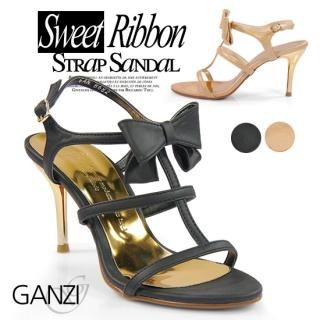 Buy ganzi Bow Front Strap Sandals 1022904667
