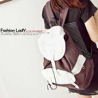 Buy Fashion Lady Color-Block Backpack 1022364141