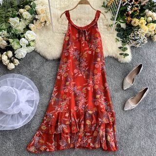 Sleeveless | Chiffon | Dress | Print