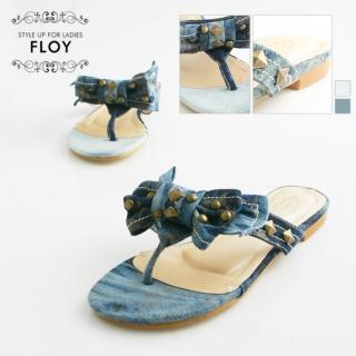 Buy FLOY SHOES Studded Bow-Accent Flip-Flops 1023053895
