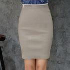 Ribbed Pencil Skirt 1596