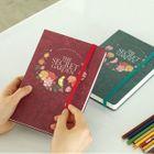 Flower-Print Notebook (Small) 1596
