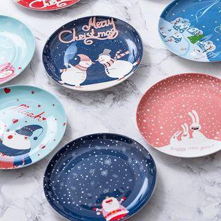 Image of Christmas Ceramic Plate