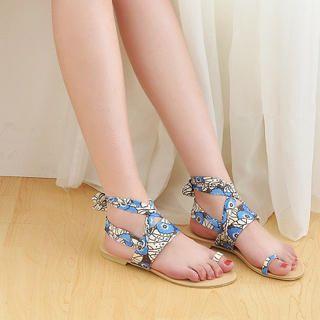 Buy KAWO Floral-Strap Flat Sandals 1022892951