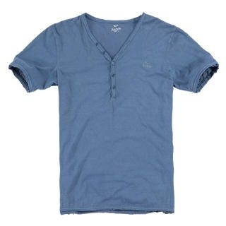 Picture of Justyle V-Neck Short-Sleeve Henley 1022741309 (Justyle, Mens Tees, China)