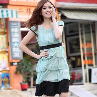 Picture of 19th Street Cap-Sleeve Ruffle Pleated Chiffon Dress 1023058421 (19th Street Dresses, Womens Dresses, China Dresses, Chiffon Dresses)