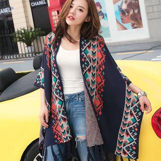 Pattern Knit Poncho 1056423279