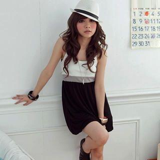 Buy VeJanie Sleeveless Color-Block Sundress 1022594095