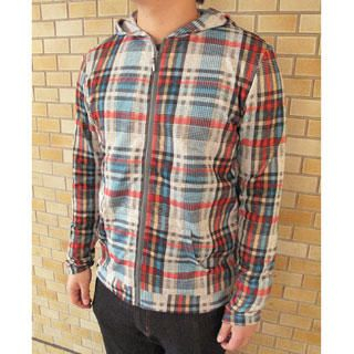 Picture of Lens Concave Plaid Hoodie 1022250080 (Lens Concave, Mens Tees, Japan)