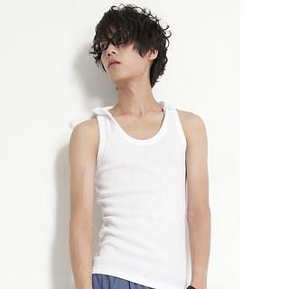 Picture of SERUSH Hooded Ribbed Tank Top 1022952980 (SERUSH, Mens Tees, Taiwan)
