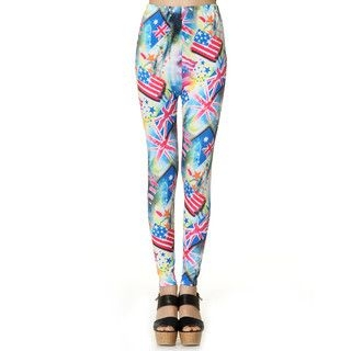 Product Image of United State Flag-Print Leggings