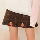 Embroidered Plaid Mini Skirt 1596