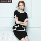 Mock Two-Piece Dress 1596