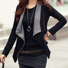 Long-Sleeved Draped Zip Cardigan 1596