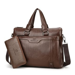 Faux Leather Briefcase 1062377668