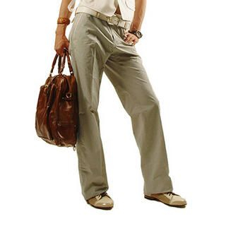 Buy Purplow Straight Leg Pants in Beige 1004639793