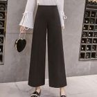 Plain Wide-Leg Pants 1596