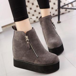 Image of Platform Hidden Wedge Ankle Boots