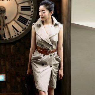 Buy ode' Sleeveless Trench Coat Dress 1022895695