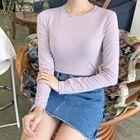 Slim-Fit Long-Sleeve T-Shirt 1596