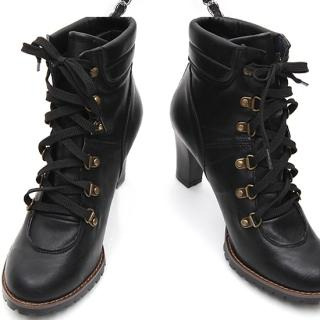 Buy REDOPIN Lace-Up Ankle Boots 1023011219