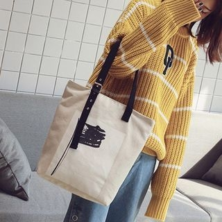 Printed Canvas Tote 1062659114