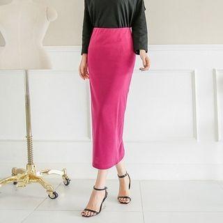 Band-Waist Long Skirt 1053044539