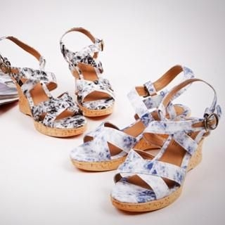 Picture of NamuDDalgi Washed Platform Sandals 1023012863 (Sandals, NamuDDalgi Shoes, Korea Shoes, Womens Shoes, Womens Sandals)