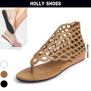 Buy Holly Shoes Cutout Detail Thong Sandals 1022971994