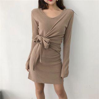 Long-Sleeve Tie-Waist Dress 1065260039