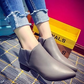 Chunky Heel Pointed Ankle Boots 1062107088