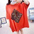 Sequined 3/4-Sleeve T-Shirt Dress 1596
