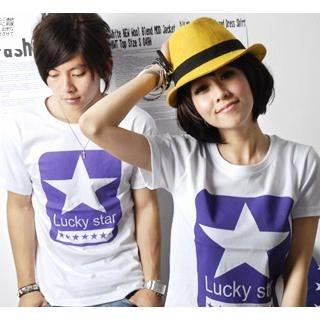 "Buy SLOWTOWN Short-Sleeve ""Star"" Print T-Shirt 1023012516"