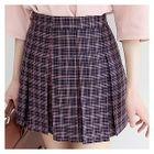 Plaid Mini Pleat Skirt 1596