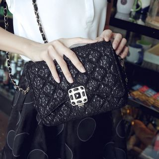Lace Quilted Cross Bag