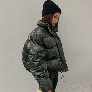 Image of Drawstring Padded Coat