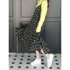 Spaghetti-Strap Ruffled Floral Long Dress 1596