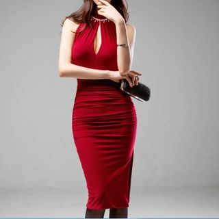 Sleeveless | Dress | Size | Red | One
