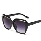 Metal Trim Sunglasses Type 9 - Bright Black Frame  White Lens - One Size от YesStyle.com INT