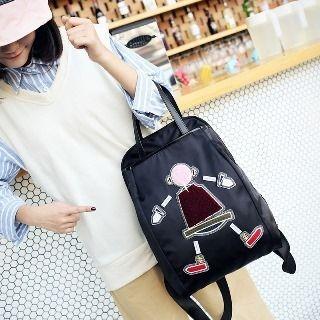 Applique Oxford Backpack 1064547641