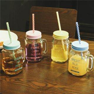 Lettering Cup With Straw 1050088386