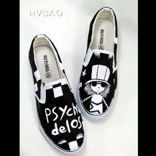 Picture of HVBAO Psychedelos' Childhood Story Slip-Ons 1020298232 (Slip-On Shoes, HVBAO Shoes, Taiwan Shoes, Womens Shoes, Womens Slip-On Shoes)