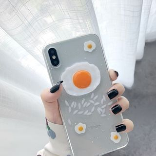 Image of 3D Egg Phone Case - iPhone 6 / 6 Plus / 6s / 6s Plus / 7 / 7 Plus / 8 / 8 Plus / X / XS / XS Max / XR
