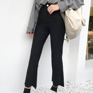 Cropped Boot-Cut Pants 1062802964