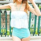 Set: Striped Bikini + Cover-Up 1596