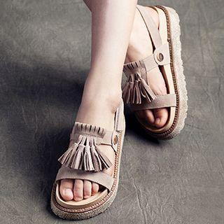 Tasseled Platform Sandals 1049204474