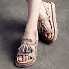 Tasseled Platform Sandals 1596
