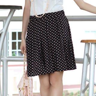 Buy 19th Street Polka Dot Pleated Skirt 1023052462