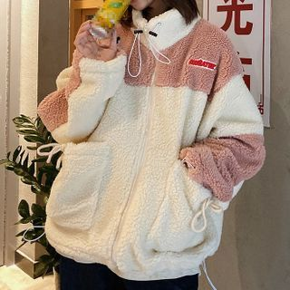 Two-Tone   Fleece   Jacket